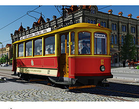 3D model SKODA retro tramway