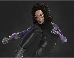 woman Alita Battle Angel 3D Model