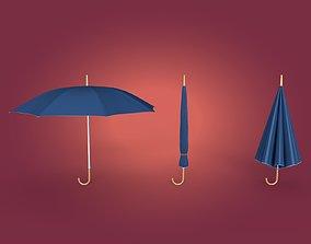 3D asset VR / AR ready Umbrellas