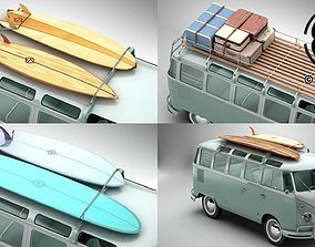 Volkswagen T1 Samba 1963 Accessories 3D