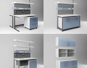 Scientific Laboratory Furniture Set 1 3D model