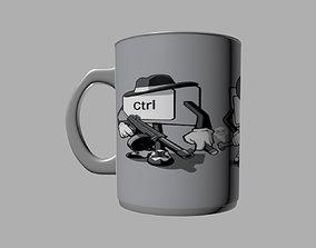 CtrlAltDel tea cup 3D printable model