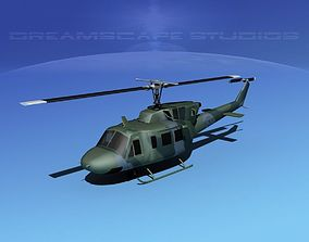 3D model Bell UH-1N Air Force Rescue