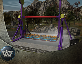 3D asset High Detail Fairground Ride 12 - Topspin