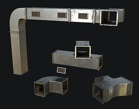 3D model Ventilation Modular PBR