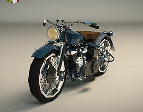 Low Poly Motorcycle 03 3D model