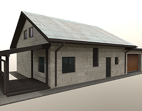 3D asset game-ready house for