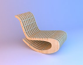 Wooden Parametric Loft Chair 3D model
