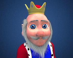 3D model rigged cartoon king