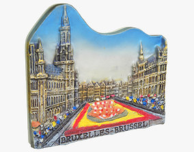 art Brussels Belgium Magnet Souvenir 3D print model