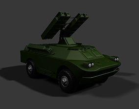 SA-9 Gaskin Tactical SAM TEL 3D