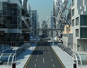 3D Future City HD 5