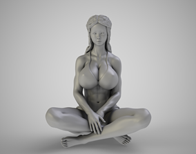 3D print model Woman Sitting with Legs Crossed