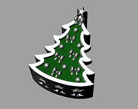 3D printable model Christmas tree bead