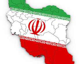 3d Political Map of Iran