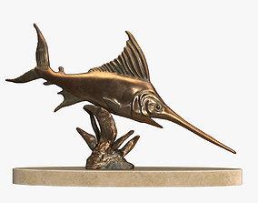 Swordfish Sculpture 3D asset VR / AR ready