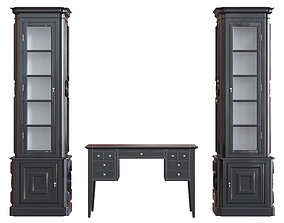 3D model Cupboard Eichholtz and Table Marioni Aspen Free