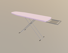 3D model low-poly Ironing Board