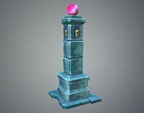 Low Poly Dungeon Pillar 3D model