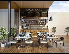 3D model Outdoor Cafe