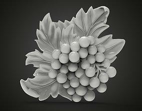 Grape bas-relief 3D printable model