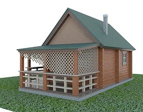 3D model VR / AR ready lodge country