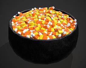 Candy Corn Bowl 3D asset