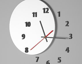 3D asset Wall clock OUT OF TIME