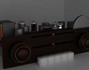 Old Tube Radio Electronics 3D model VR / AR ready