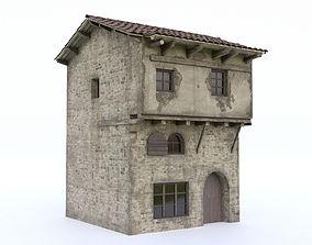 3D model VR / AR ready Old Village House