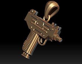 automat gun pendant 3d