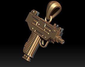 uzi automat gun pendant 3d