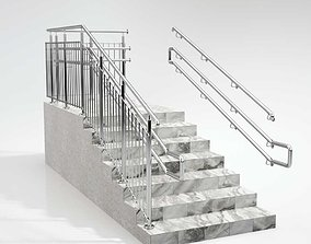 Stairs railing 3D model