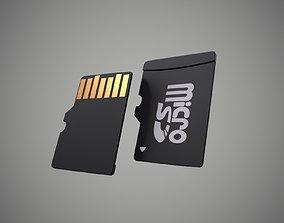 Micro SD Card 3D asset