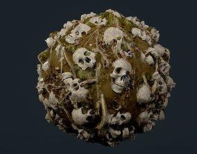 Skulls Bones Seamless PBR Texture 30 3D