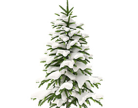Fir Tree with Snow 1point2m 3D