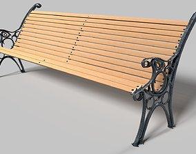 3D model realtime furniture Park Bench