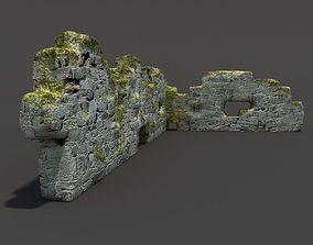 3D English Castle Ruin architecture