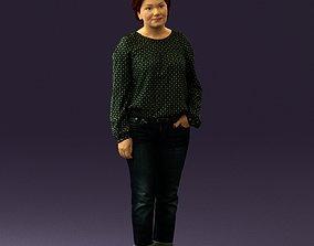 monochrome Woman in dots top jeans 0665 3D Print Ready