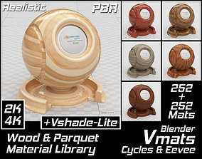 3D asset VMATS Wood and Parquet Material Library for 2