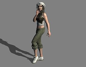 sexy girl 1 rigged 3D model