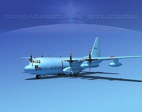 Lockheed C-130 Hercules Japanese 3D model