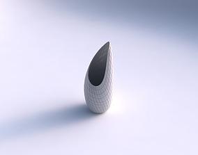 Vase Tsunami with grid plates 3D print model
