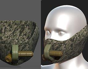 Gas mask helmet scifi fantasy armor hats 3D asset 1