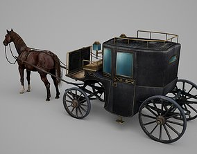 3D asset Retro carriage