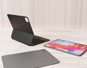 iPad pro with magic keyboard 3D asset