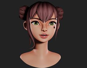 3D asset CA Character Stylized