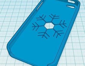 IPHONE 5 SNOW CASE 3D print model