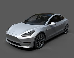 Tesla Model 3 Low Poly realtime