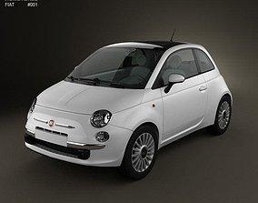 3D model Fiat 500 2010